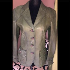 EUC Danier Leather Hunter green blazer